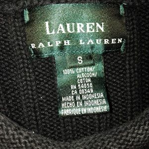 Ralph Lauren Black heavy ribbed pullover sweater